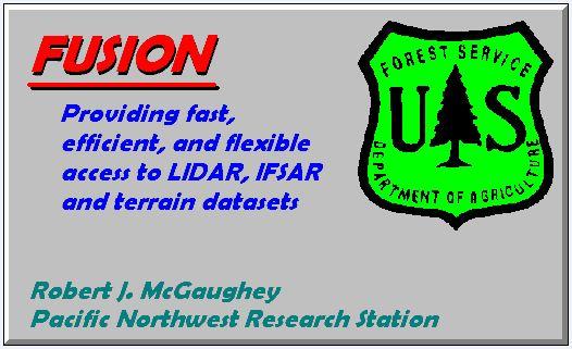 FUSION/LDV LIDAR analysis and visualization software
